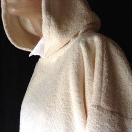 Sweat à Capuche Tissu Eponge Ivoire