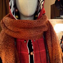 Echarpe laine Roux Dégradé