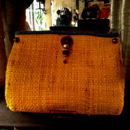 Clutch Raphia Mangue Pampilles