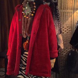 Parka reversible Rouge FFur & Velours de laine