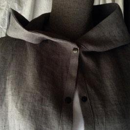 Chemise à Capuche Lin Gris