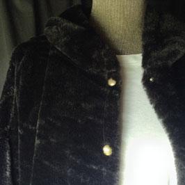 Veste à Capuche FFur Noire