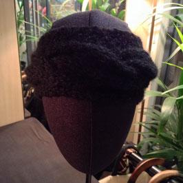 Serre-Tête Tour de cou Mohair Noir