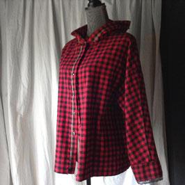 Chemise à Capuche Rouge & Noir