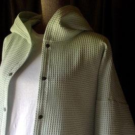Chemise à Capuche Nid d'Abeille Céladon