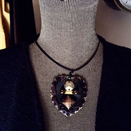 Coeur Métal & Perles