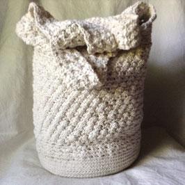 Grande Besace Coton Ecru