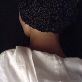 Serre-Tête Tour de cou  Chiné Gris Noir