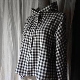 Chemise à Capuche N&B