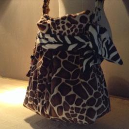 Besace Girafe Brodée Perles & Sequins