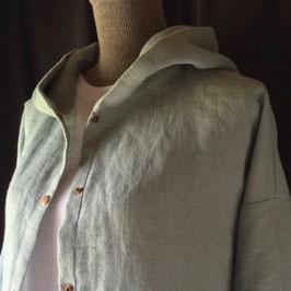 Chemise à Capuche Lin Céladon
