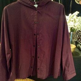 Chemise à Capuche Coton Prune