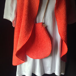 Gilet éponge Orange avec Poche et Epingle