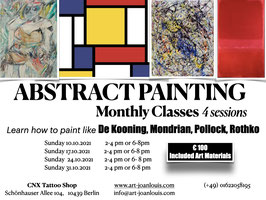 Abstract Painting Monthly classes from 2-4pm