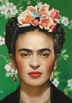 Paint the Famous portrait of Frida Kahlo