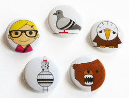 PIN-BACK BUTTONS / ANSTECKBUTTONS 25 mm