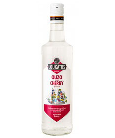 Ouzo Loukatos Cherry 38% 0,7L