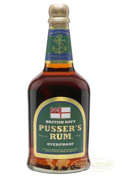 Pussers British Navy Rum Super Overproof 75 % green Label 0,7 Liter