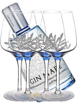GIN MARE 0,7 LITER SAMT 4 FLOTTE GLAS