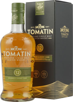 TOMATIN 12 ÅR SINGLE HIGHLAND MALT WHISKY 43%