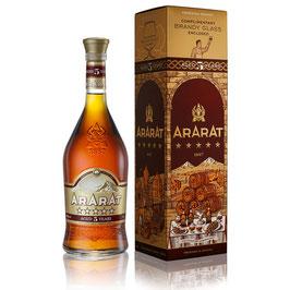 Ararat 5* 0,7 l + 1 Brandy Glas_Gavebox