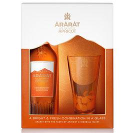 ARARAT Apricot NEW RANGE 6 YO 0,7 l + 1 Highballglas