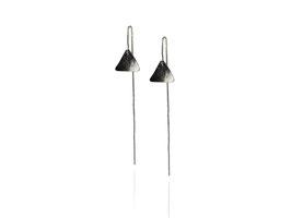 MATERIKA chain earrings triangle