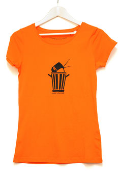 "T SHIRT ""UPCYCLING""   WOMAN   bright orange"