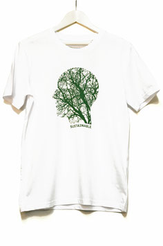 "T SHIRT ""SOSTAINABLE""  MAN  white"