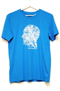 "T SHIRT ""SOSTAINABLE"" MAN  azur"