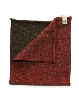 Ganzo Rilana – lana rigenerata: Rosso/Militare
