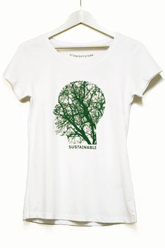 "T SHIRT ""SOSTAINABLE""  WOMAN   white"