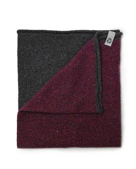 Ganzo Rilana – lana rigenerata: Antracite/Rosso