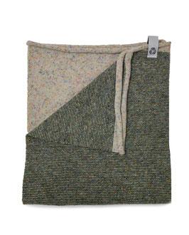 Ganzo Rilana – lana rigenerata: Beige/Militare