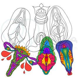 Körperpositive Mandalas (Kopiervorlage)