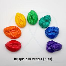 "Genitalmodelle aus lackierter Kunststoffmodelliermasse im Set ""Vielfalt"""