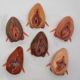 """Vulvamodell mit passender Klitoris """"Sexologie & Beratung"""", erweitert (aus besonders leichter Kunststoffmodelliermasse)"""