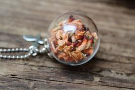 Glaskugelkette Ginster apricot