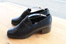 Donkerblauwe leren loafers