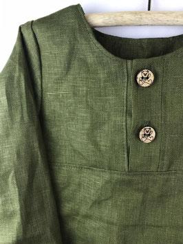 Leinenhemd - waldgrün