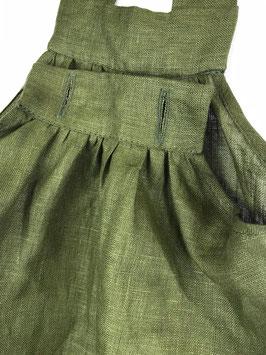 Leinenkleid - waldgrün