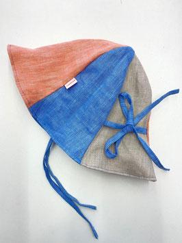 Sonnenhut - Pfirsich - hellblau - natur  (Größe 1)