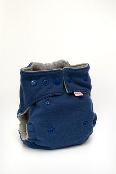 Wollwindel Schurwolle - Blau (Newborn)