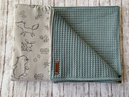 Babydecke Waldbabys / dusty mint
