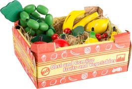 Stiege mit Obst