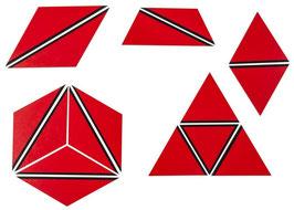 Satz konstructive Dreiecke rot