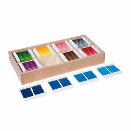 Farbtäfelchen - Kasten mit 32 Paaren