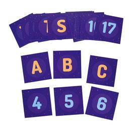 Befehlskarten-Set für den Photon Roboter, Alphabet und Zahlen