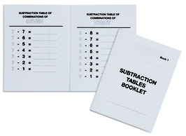 Subtraction Tables Booklet (ENGLISCHE VERSION)