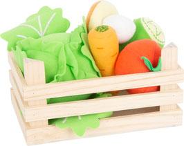 Stoff-Gemüse-Set mit Kiste